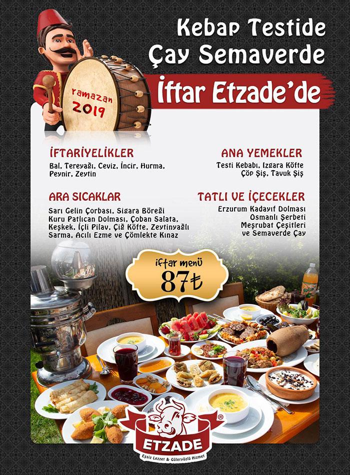 etzade eşsiz anadolu lezzetleri 2019 iftar menüsü